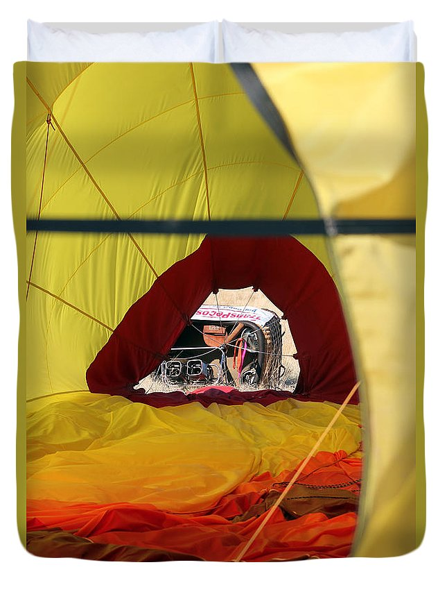Basket Duvet Cover featuring the photograph Gondola Envelopment by Alycia Christine