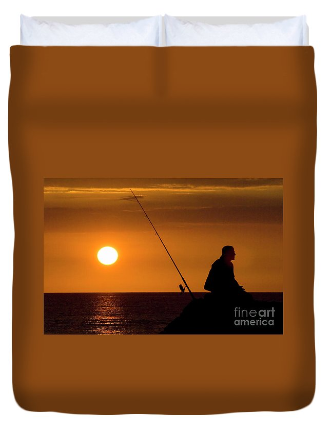 Hawaii Duvet Cover featuring the photograph Gone Fishing by Bob Christopher