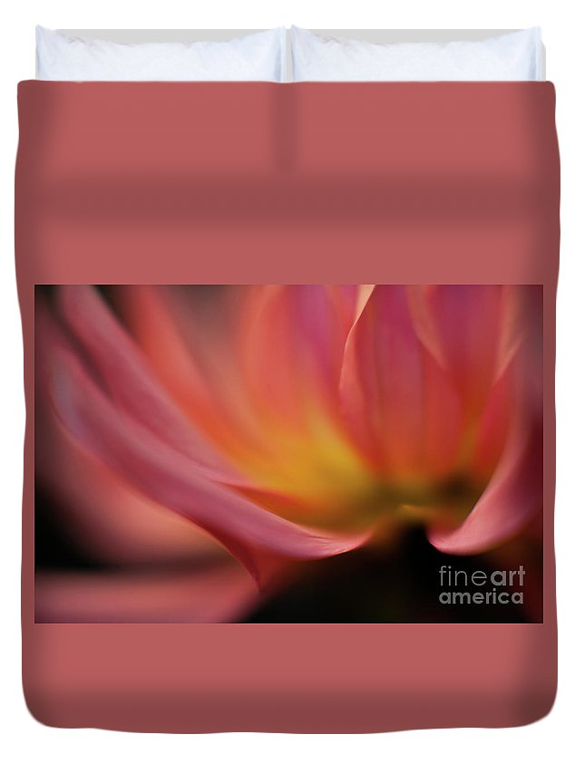 Dahlia Duvet Cover featuring the photograph Gorgeous Abstract by Mike Reid