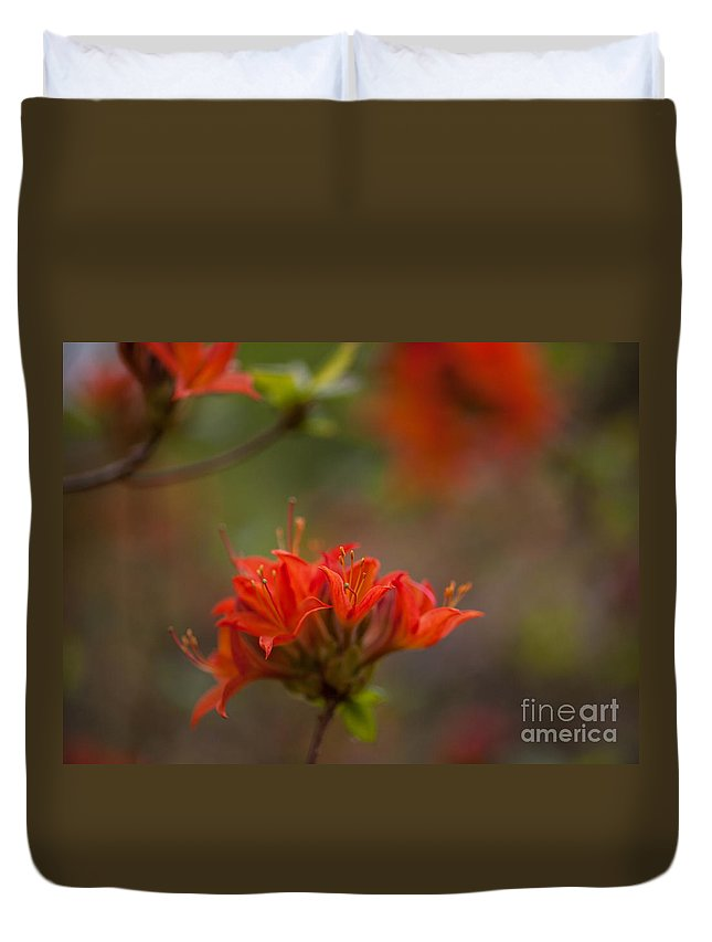 Rhodies Duvet Cover featuring the photograph Gorgeous Cluster by Mike Reid