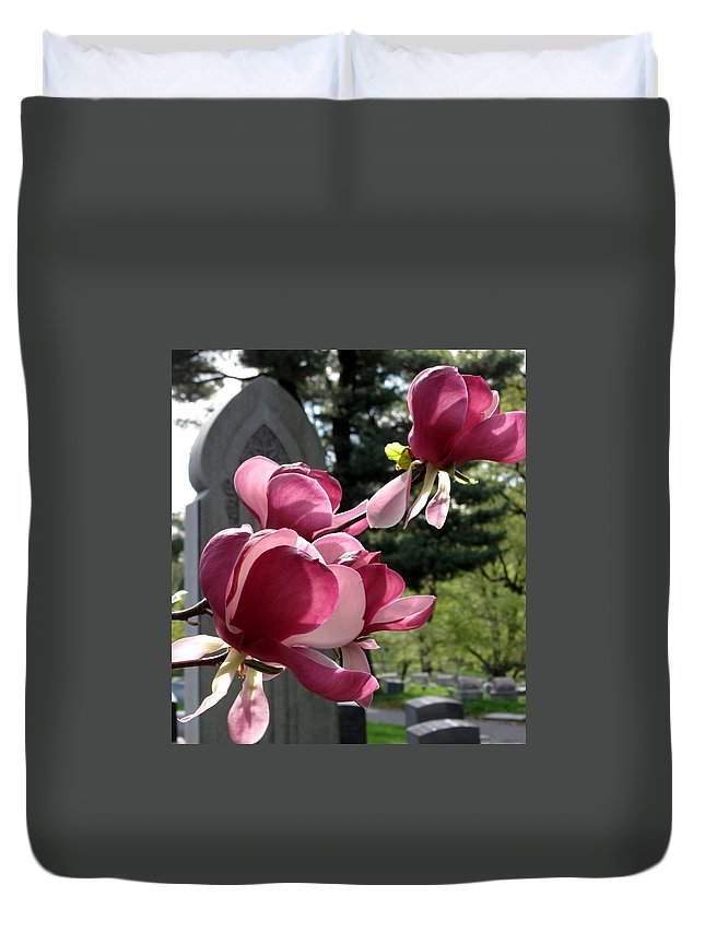 Graveyard Duvet Cover featuring the photograph Graceful Abundance by Michele Nelson