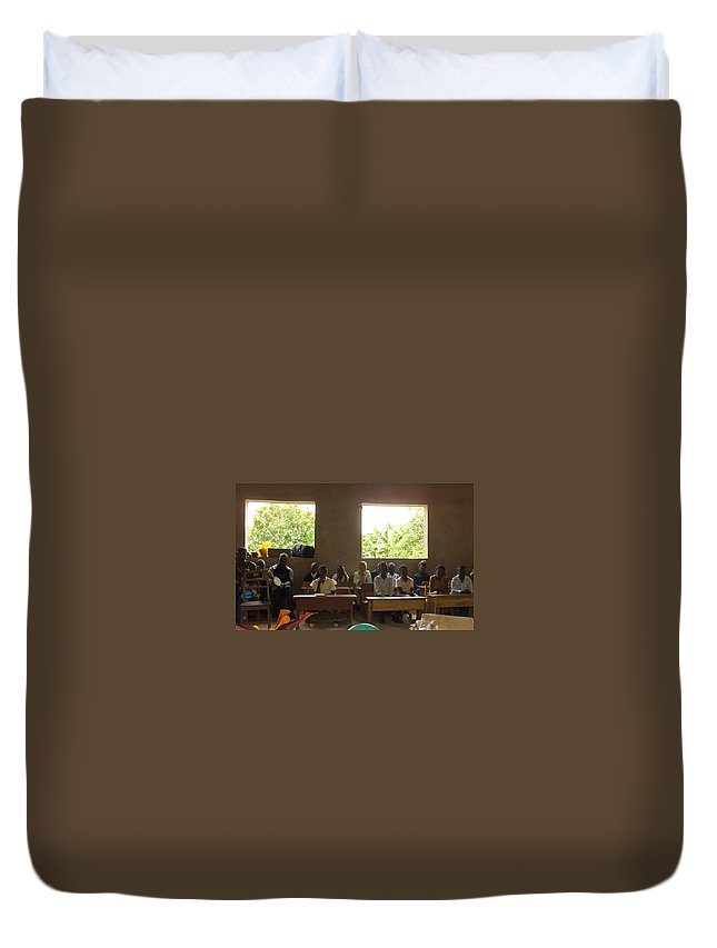 Nigeria Duvet Cover featuring the photograph Graduating by Amy Hosp