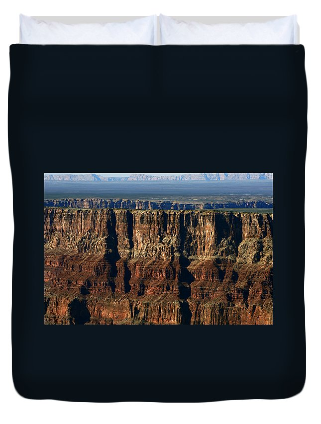 Grand Canyon Duvet Cover featuring the photograph Grand Canyon Cliffs IIi by Julie Niemela