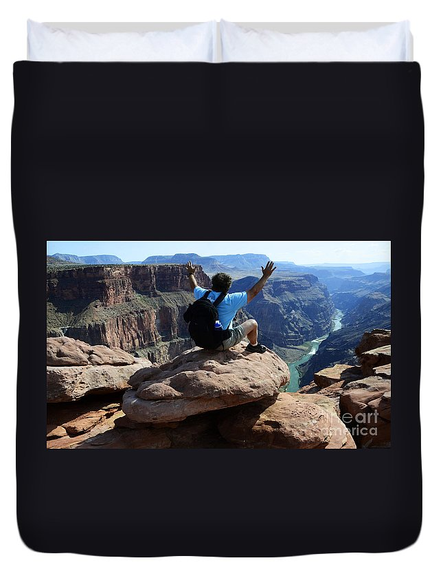 Grand Canyon Duvet Cover featuring the photograph Grand Canyon Feeling All Right by Bob Christopher