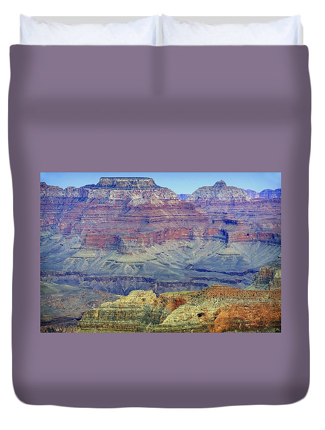 Grand Canyon Duvet Cover featuring the photograph Grand Canyon Landscape II by Julie Niemela