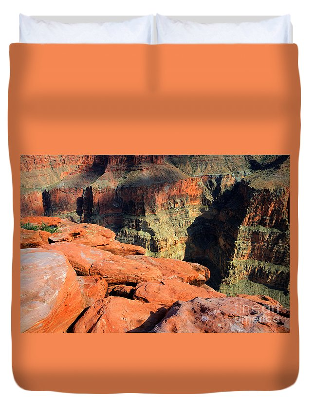 Grand Canyon Duvet Cover featuring the photograph Grand Canyon North Rim by Bob Christopher