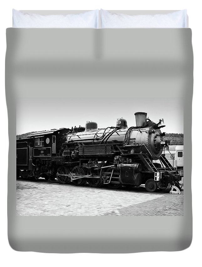 Train Duvet Cover featuring the photograph Grand Canyon Train by Ricky Barnard