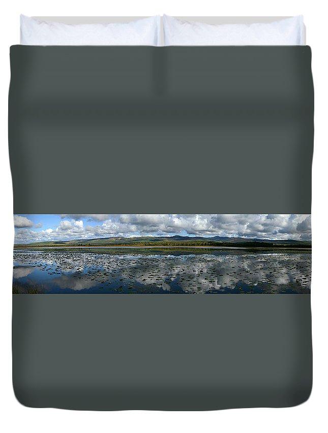 Light Duvet Cover featuring the photograph Gravel Lake, North Klondike Highway by Robert Postma
