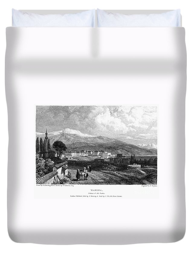 1833 Duvet Cover featuring the photograph Greece: Yanina, 1833 by Granger