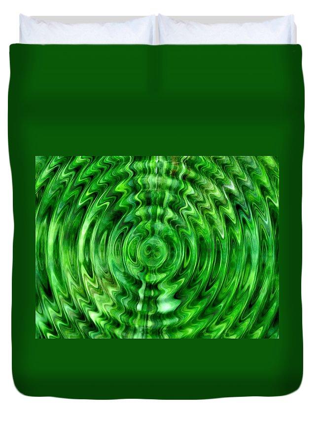 Lehtokukka Duvet Cover featuring the photograph Green As Grass by Jouko Lehto