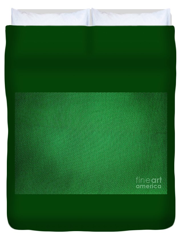 Background Duvet Cover featuring the photograph Green Grunge Textile by Henrik Lehnerer