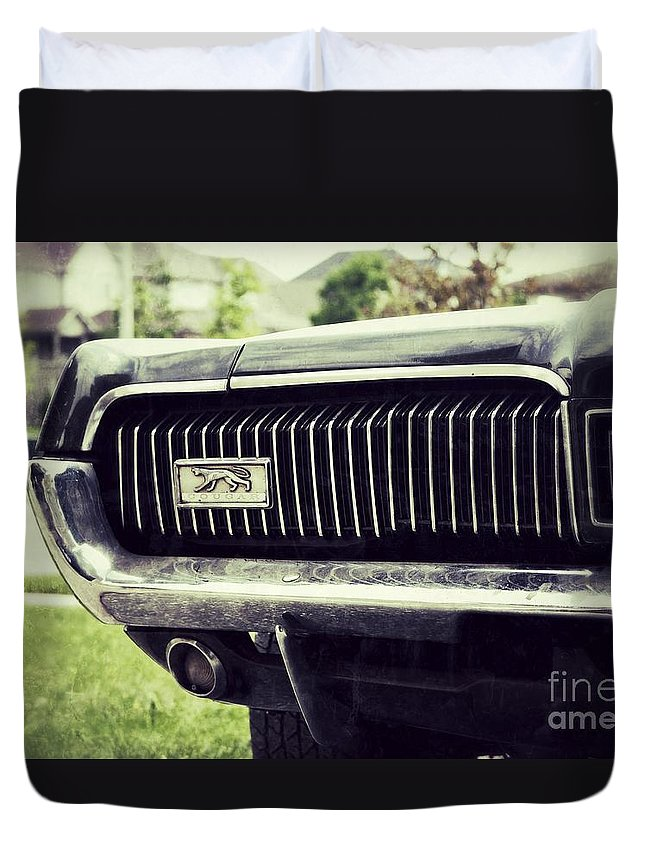 Grill Duvet Cover featuring the photograph Grilled Cougar by Traci Cottingham