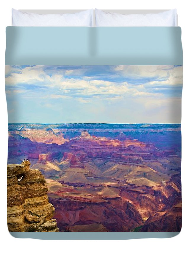 Crows Duvet Cover featuring the photograph Guardians Of The Canyon by Heidi Smith