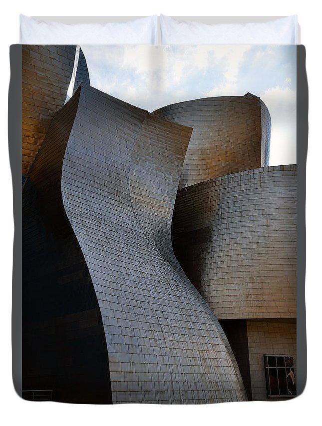 Guggenheim Duvet Cover featuring the photograph Guggenheim Museum Bilbao - 1 by RicardMN Photography