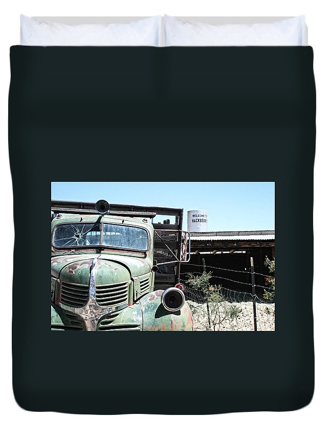 Hackberry Duvet Cover featuring the photograph Hackberry Arizona Route 66 by Frank Morales Jr