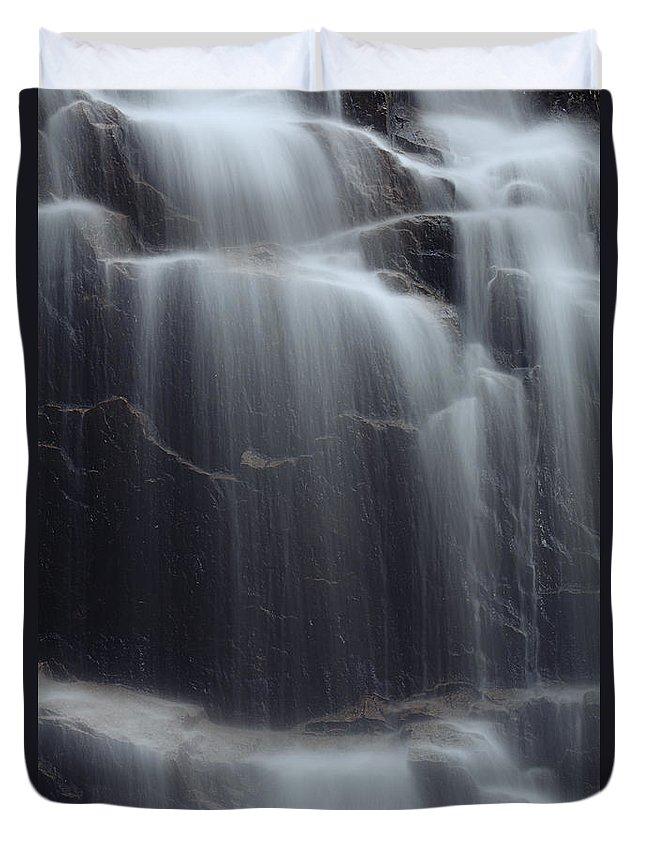 Acadia Duvet Cover featuring the photograph Hadlock Falls by Rick Berk