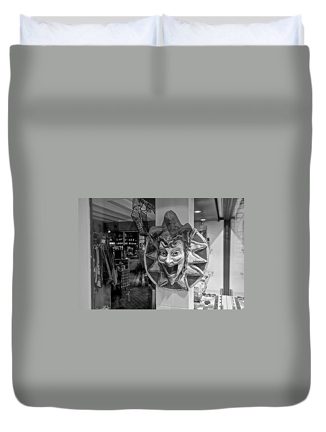 Laugh Duvet Cover featuring the photograph Hah by Eric Tressler