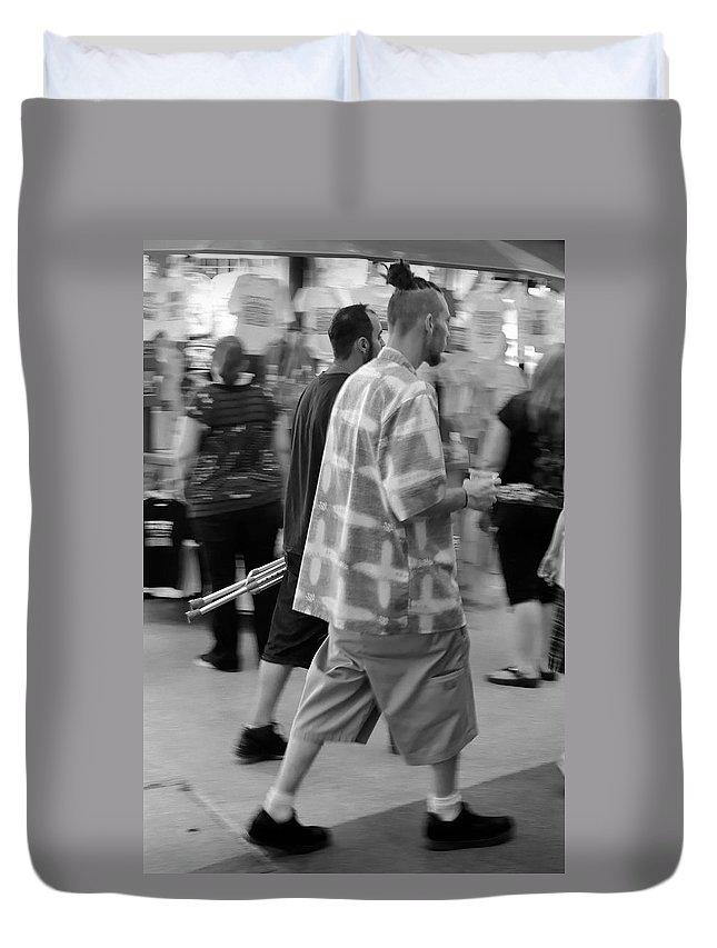 Hairdo Duvet Cover featuring the photograph Hairdo by Julie Niemela