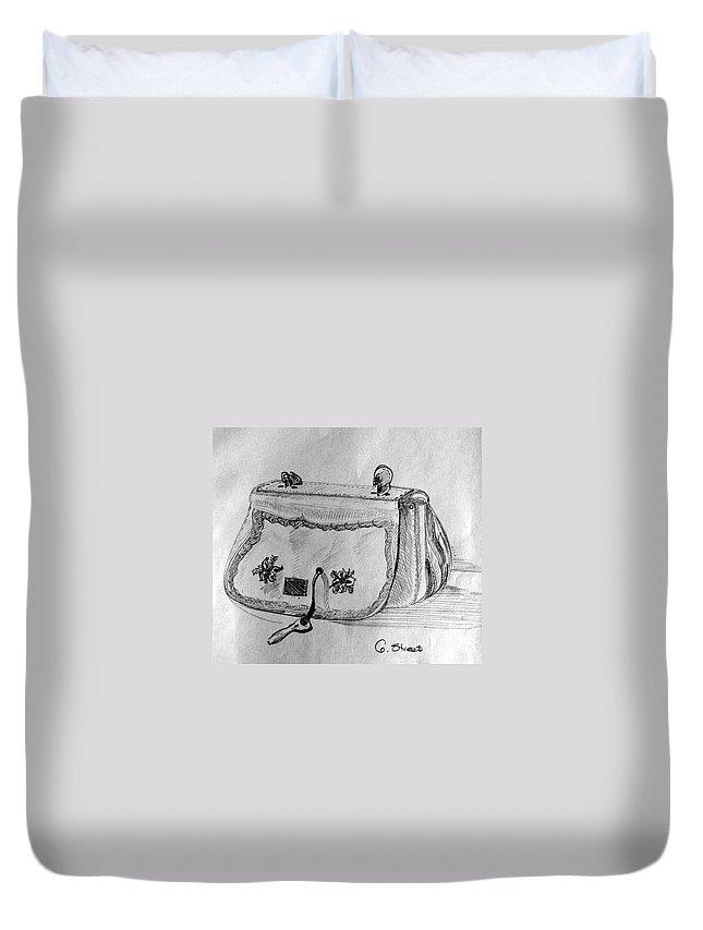 Still-life Duvet Cover featuring the painting Handbag by Caroline Street
