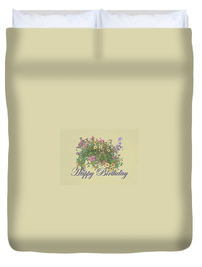 Birthday Duvet Cover Featuring The Photograph Happy Card