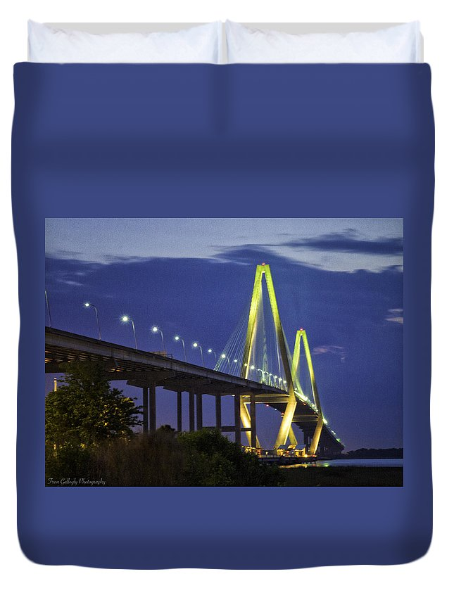 Bridge Duvet Cover featuring the photograph Harbor Bridge by Fran Gallogly