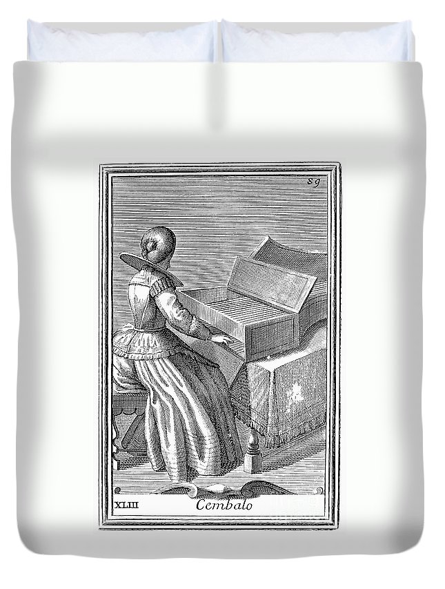 1723 Duvet Cover featuring the photograph Harpsichord, 1723 by Granger