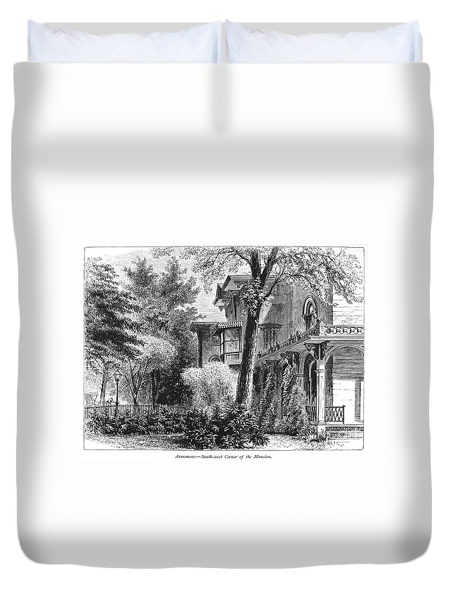 1876 Duvet Cover featuring the photograph Hartford: Armsear Mansion by Granger