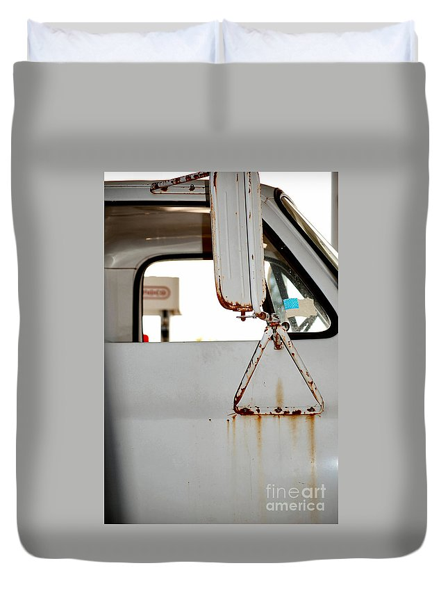 Rust Duvet Cover featuring the photograph Harvest by Anjanette Douglas