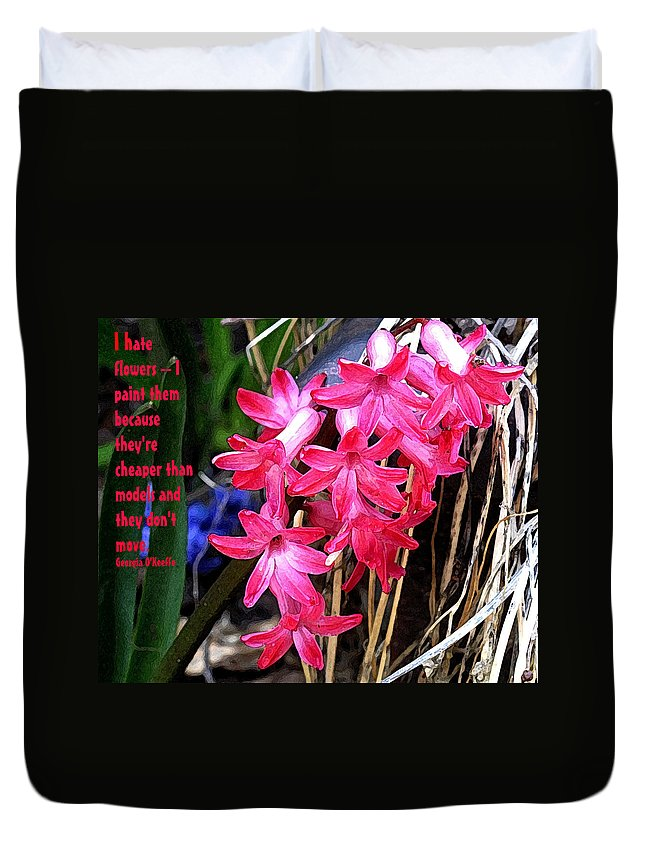 Flowers Duvet Cover featuring the photograph Hating Flowers by Ian MacDonald