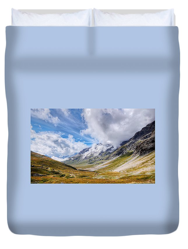 Alpine Duvet Cover featuring the photograph Haven by Mircea Costina Photography