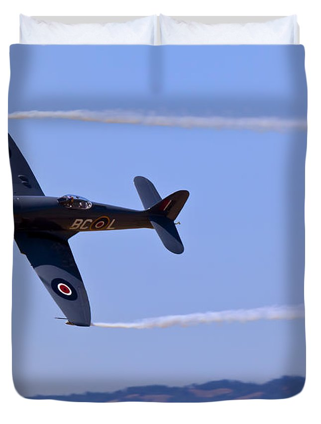 Hawker Sea Fury Duvet Cover featuring the photograph Hawker Sea Fury by Garry Gay