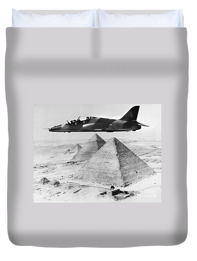 1975 Duvet Cover featuring the photograph Hawker Siddeley Hawk, 1975 by Granger