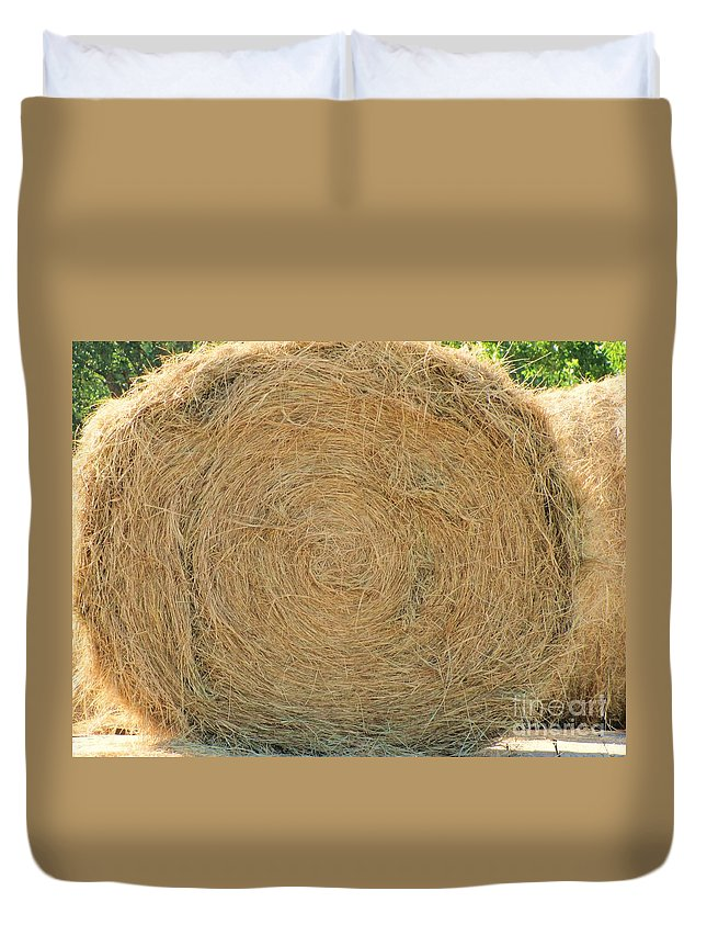 Hay Duvet Cover featuring the photograph Hay Ball by Michelle Powell