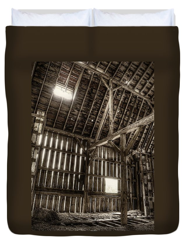 Barn Duvet Cover featuring the photograph Hay Loft by Scott Norris