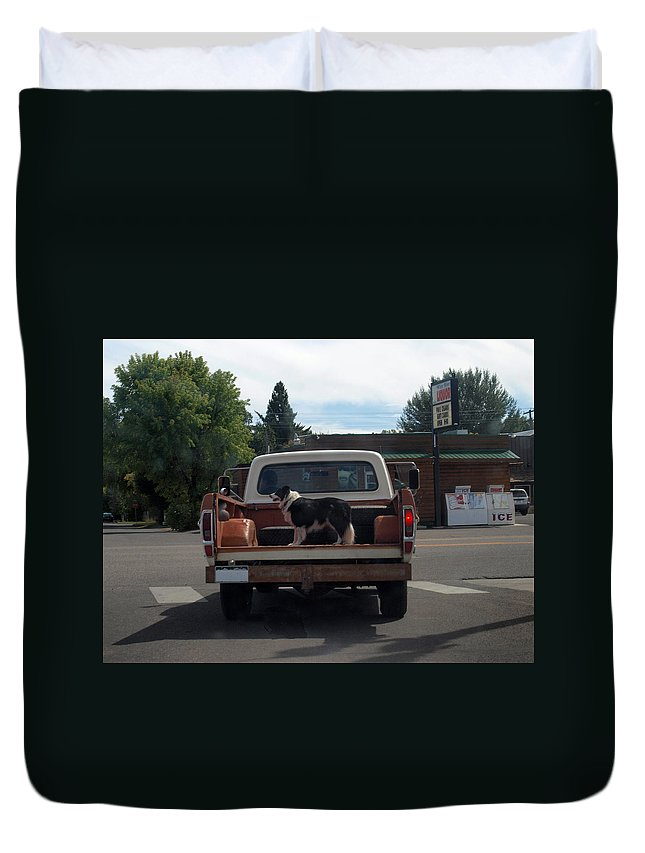 Dog Duvet Cover featuring the photograph Headed Home by Joshua House