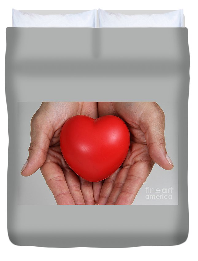 Body Duvet Cover featuring the photograph Heart Disease Prevention by Photo Researchers, Inc.