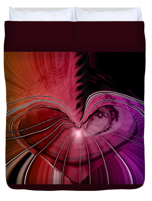Hearts Duvet Cover featuring the digital art Heart Strings by Linda Sannuti