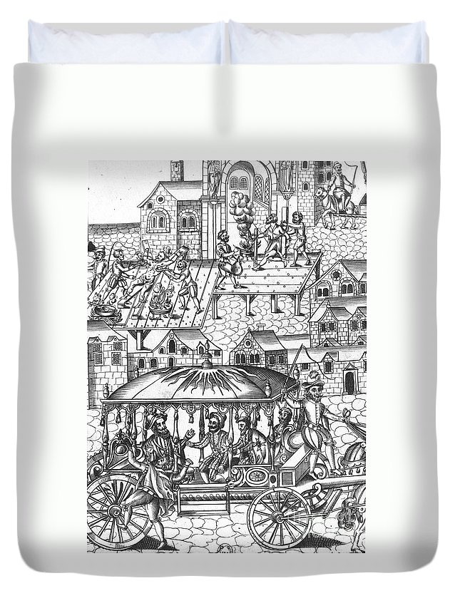 1610 Duvet Cover featuring the photograph Henry Iv Of France by Granger