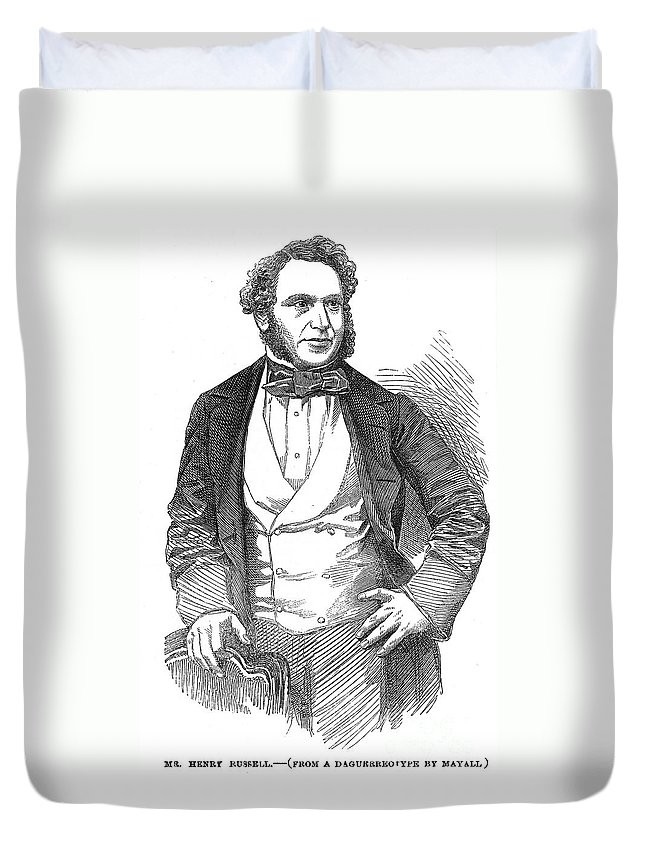 1854 Duvet Cover featuring the photograph Henry Rusell (1812-1900) by Granger