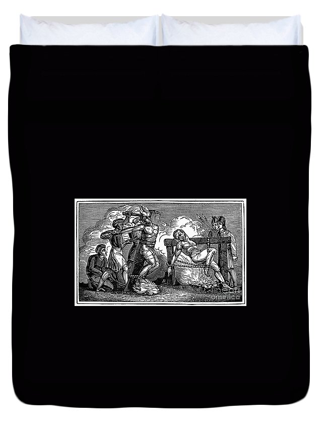 1550 Duvet Cover featuring the photograph Heresy: Torture, C1550 by Granger