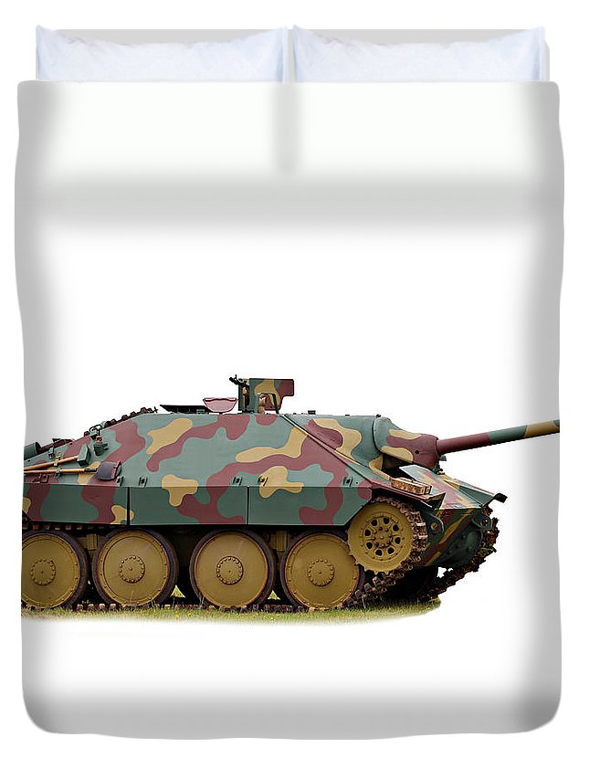 Action Duvet Cover featuring the photograph Hetzer Tank Destroyer by Paul Fell