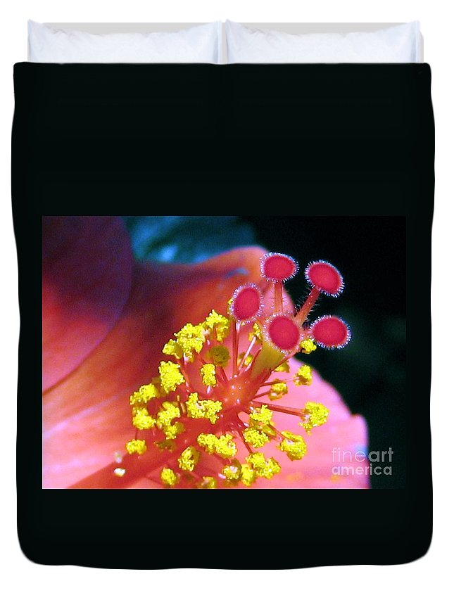 Hibiscus Duvet Cover featuring the photograph Hibiscus Flower by Susan Carella