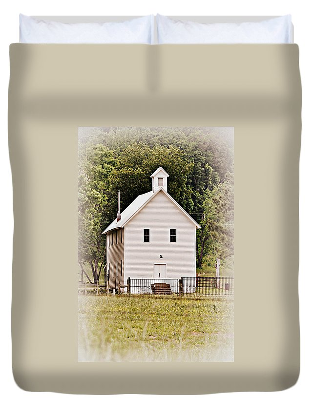Church Duvet Cover featuring the photograph Hidden Church by Marty Koch