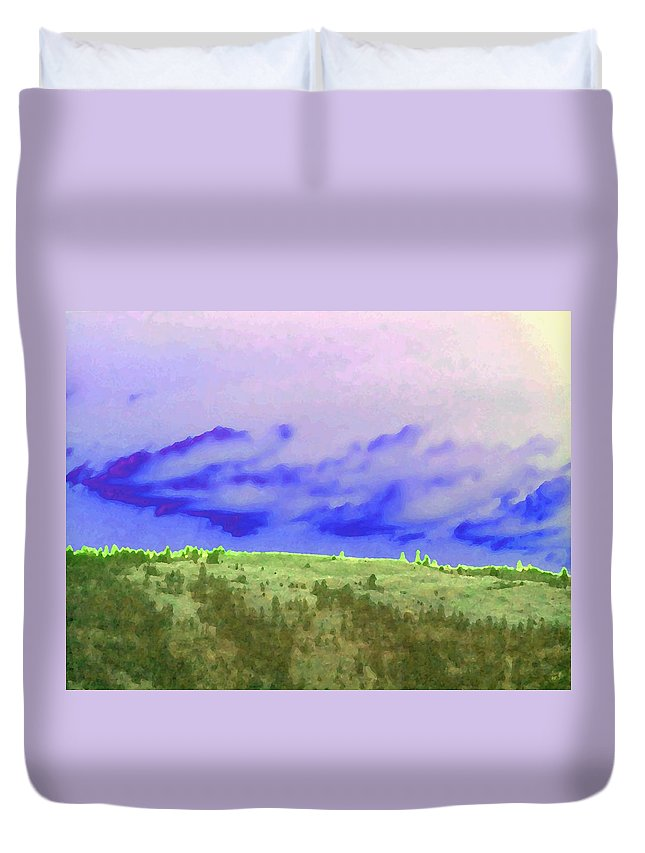 High Green Pastures Duvet Cover featuring the digital art High Green Pastures by Will Borden