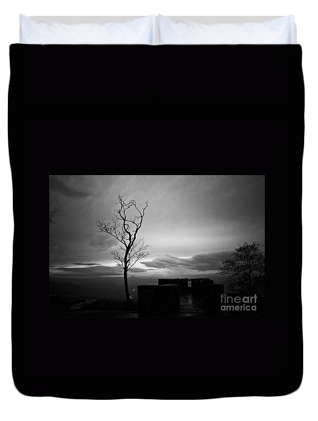 Mountain Top Duvet Cover featuring the photograph High On The Mountain Top by Kim Henderson