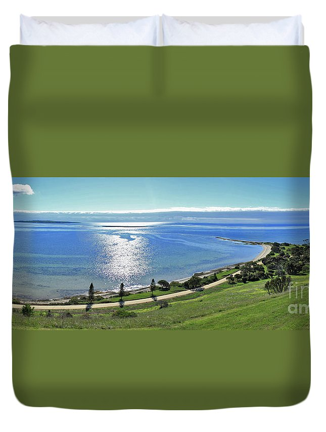 Reeves Point Duvet Cover featuring the photograph Holiday Horizon by Stephen Mitchell