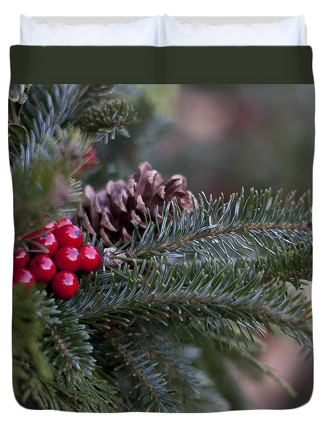 Winter Duvet Cover featuring the photograph Holiday Season by Ivelina G