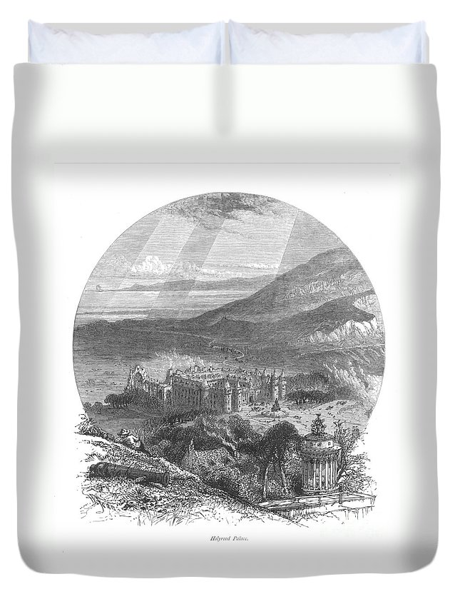 19th Century Duvet Cover featuring the photograph Holyrood Palace by Granger