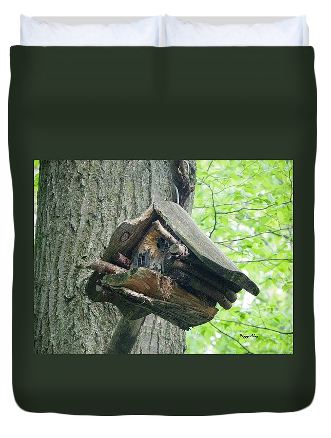 Heartland Forest Duvet Cover featuring the photograph Home Sweet Home by Peggy King