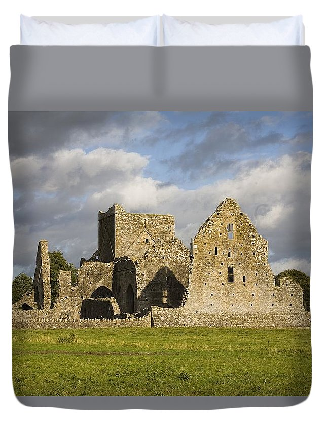 Architectural Duvet Cover featuring the photograph Hore Abbey, Cashel, County Tipperary by Richard Cummins